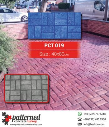 019 New Brick Basketweave Patterned Printed Concrete