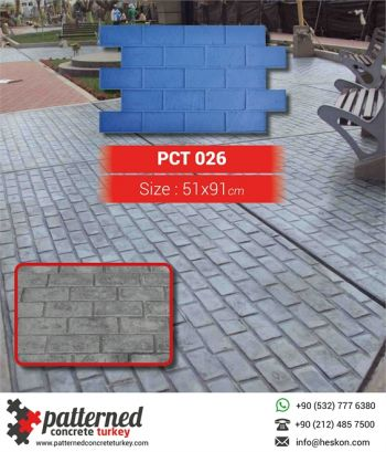 026 New Brick Patterned Printed Concrete