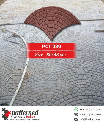 039 London Stamped Concrete Pattern Stone Mold Turkey